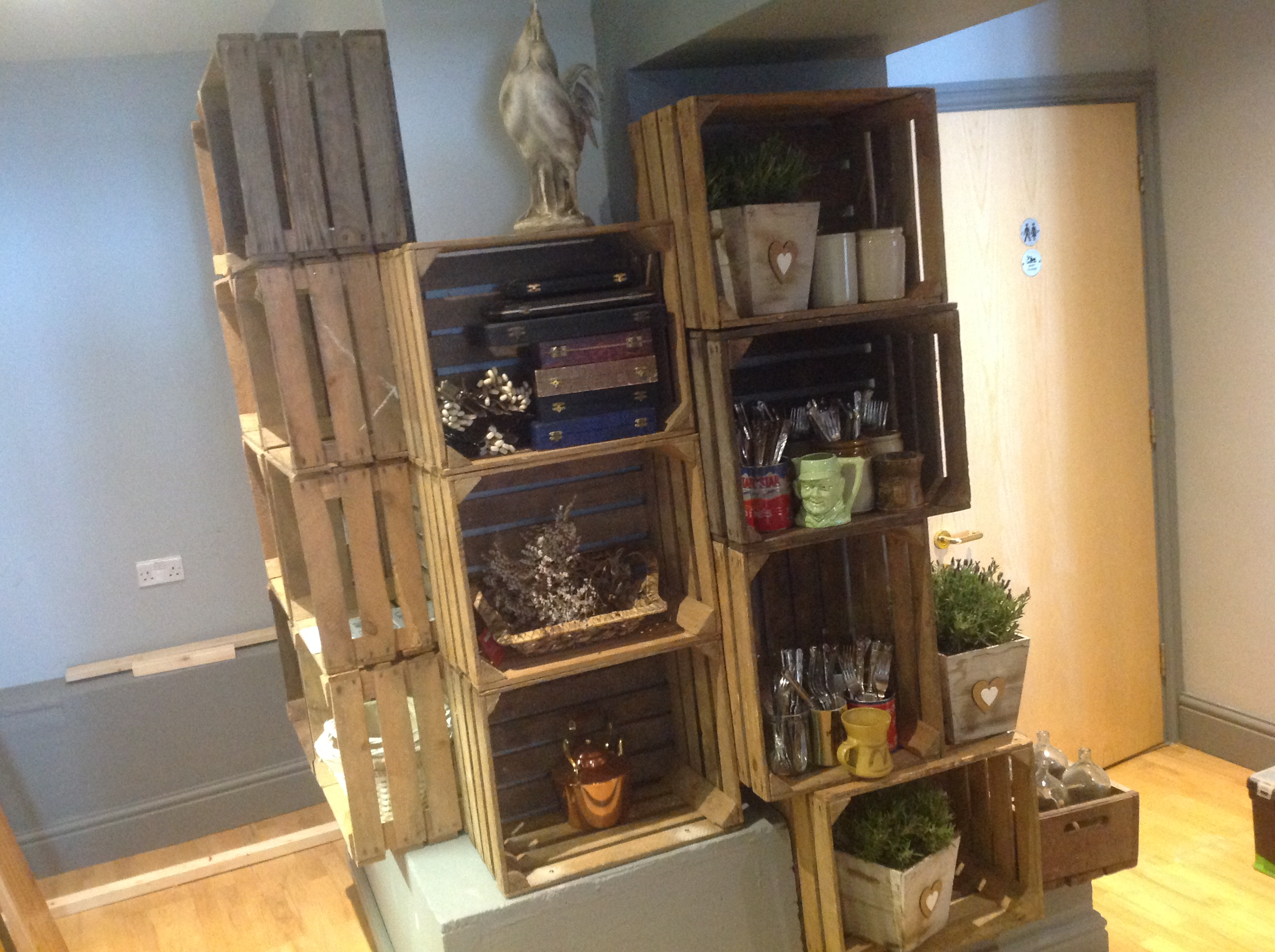 Crate Shelving at Farmhouse Kitchen Kendal