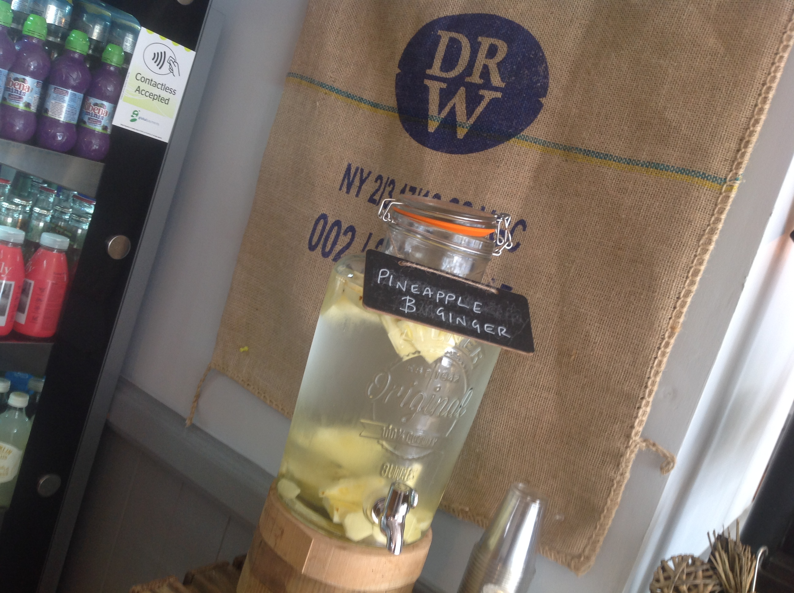 Infused Water at Farmhouse Kitchen Kendal