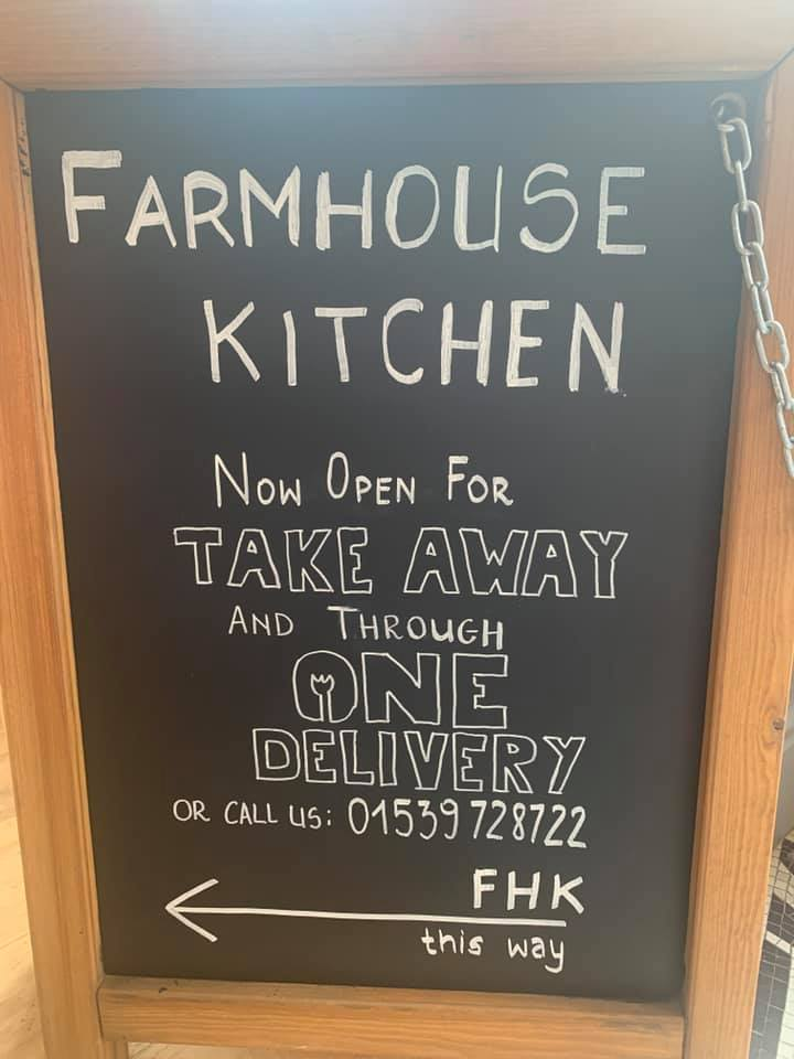 Farmhouse Kitchen now open for takeaway and through One Delivery